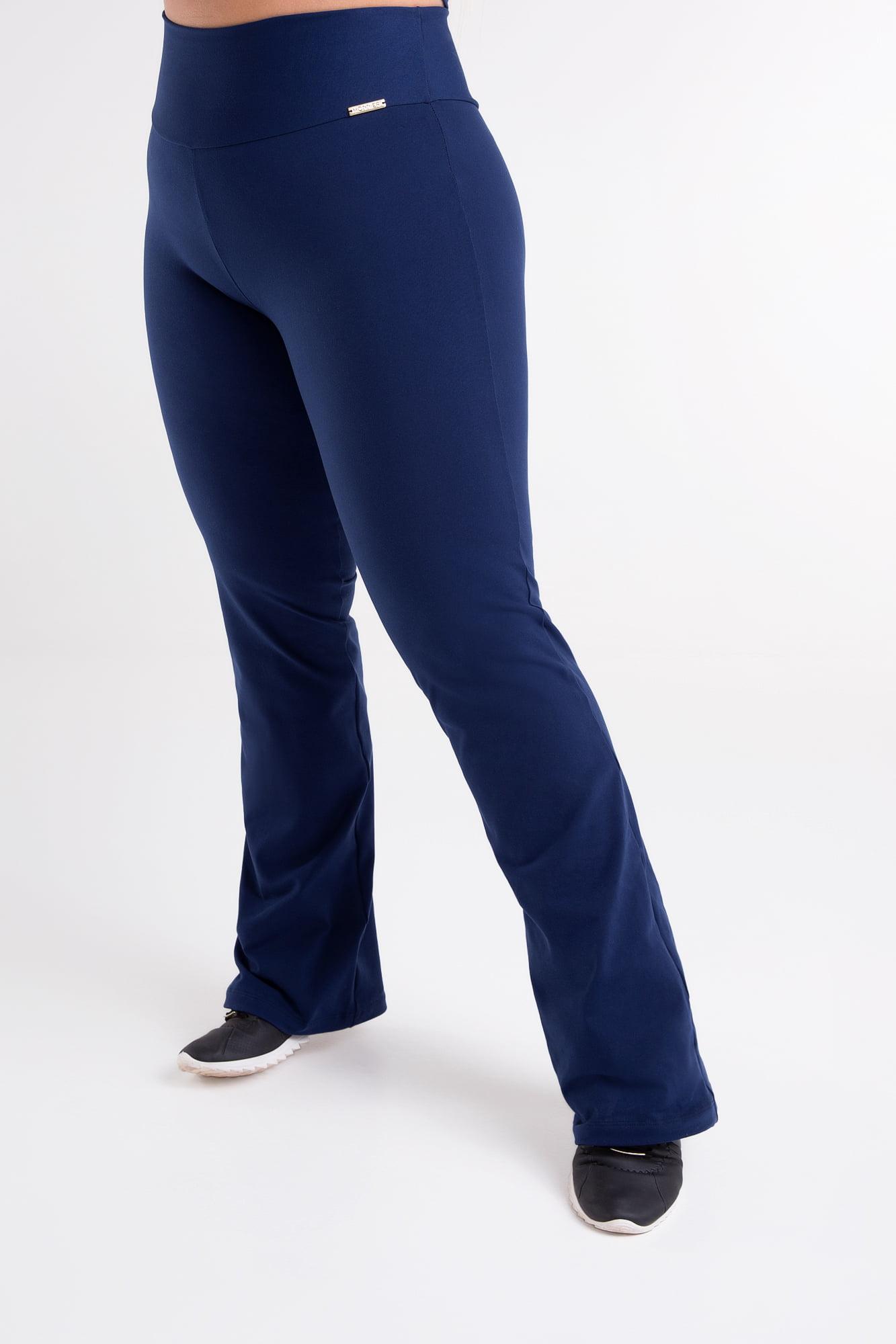 Calça Bailarina Azul Marinho Plus Size