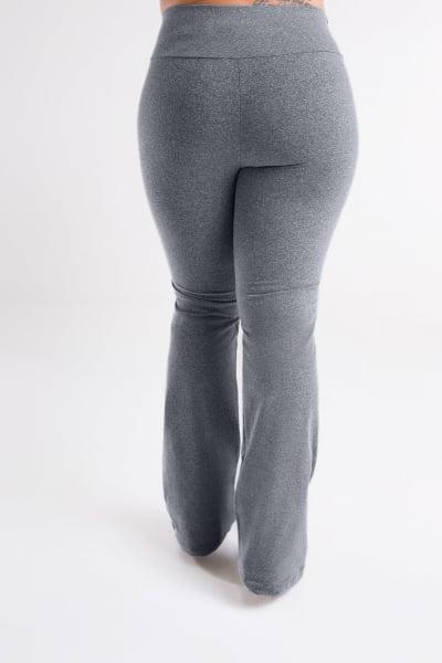 Calça Bailarina Cinza Mescla Claro Plus Size