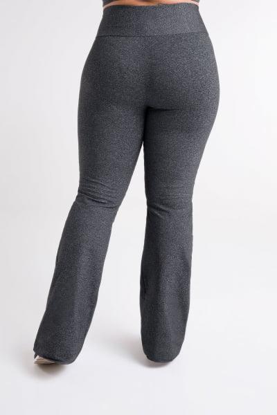 Calça Bailarina Cinza Mescla Escuro Plus Size