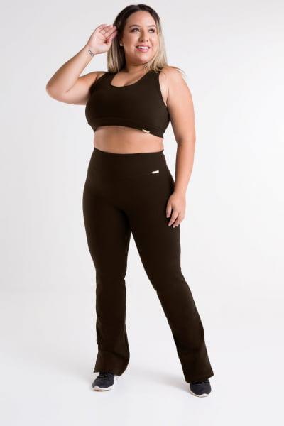 Calça Bailarina Marrom Plus Size