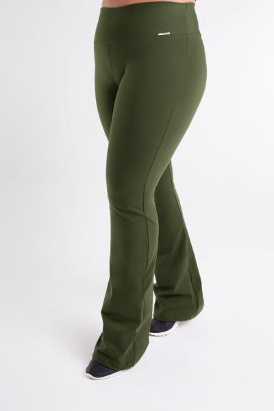 Calça Bailarina Verde Militar Plus Size