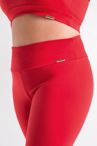 Calça Bailarina Vermelha Plus Size