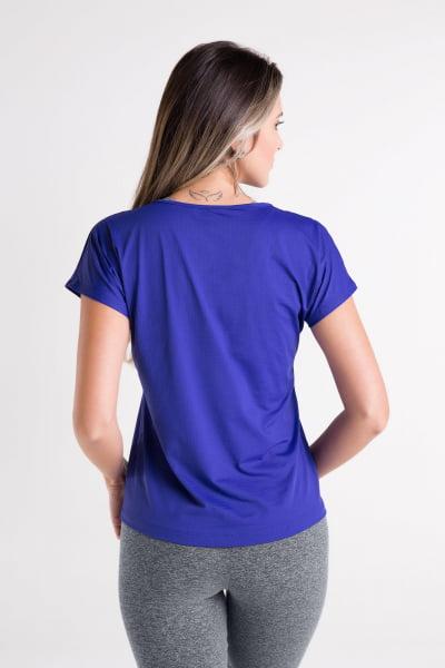 Blusa Gola Redonda Azul Bic