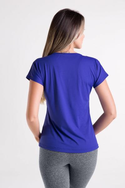Blusa Gola V Azul Bic