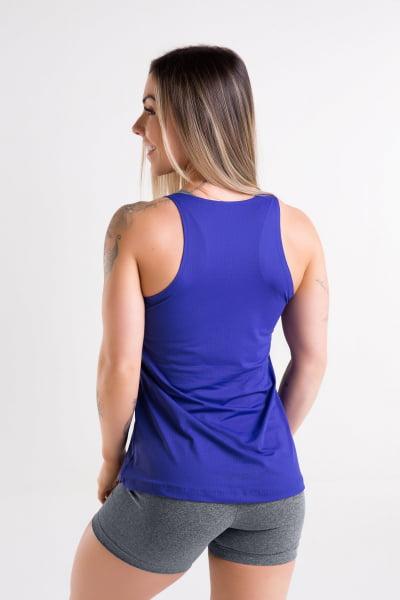 Blusa Regata Azul Bic
