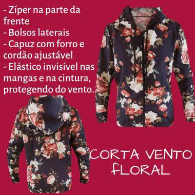 JAQUETA CORTA VENTO FLORAL