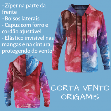 JAQUETA CORTA VENTO ORIGAMIS
