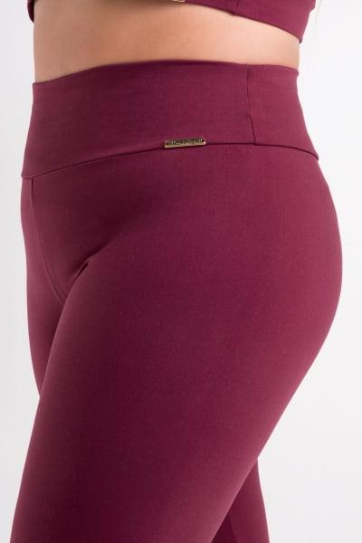 Calça Legging Bordô Plus Size