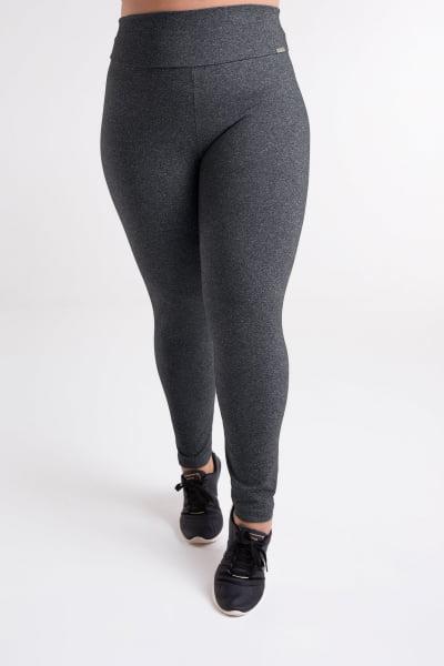 Calça Legging Cinza Escuro Plus Size