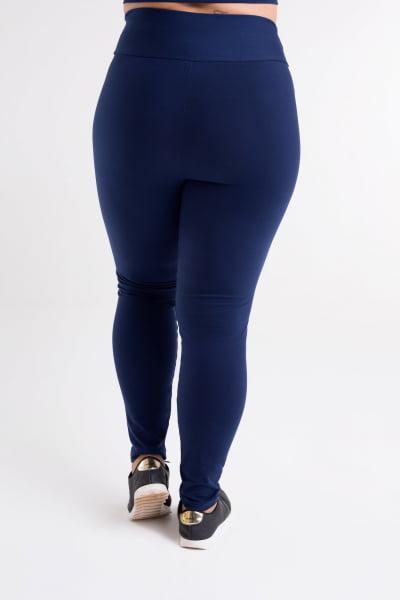 Calça Legging Azul Marinho Plus Size