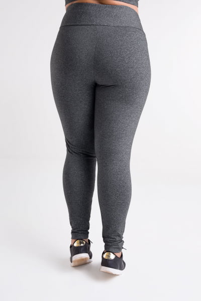 Calça Montaria Cinza Mescla Escuro Plus Size