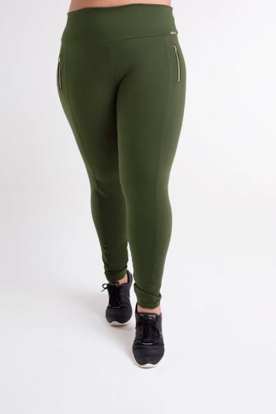 Calça Montaria Verde Militar Plus Size
