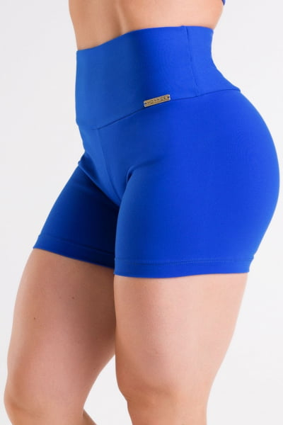 Short Academia feminino azul bic