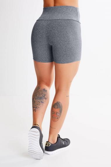 Short Academia feminino cinza - mescla CLARO