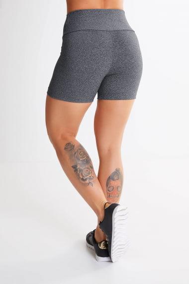 Short Academia feminino cinza - mescla ESCURO