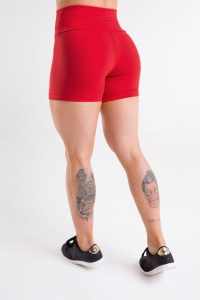 Short Academia feminino vermelho